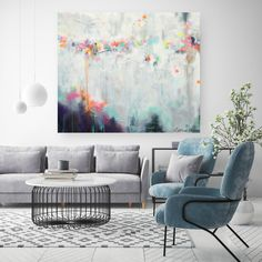 Floral Canvas Print In Tropical Style Creative Floral Canvas Rustic Painting, Urban Painting, Large Painting, Acrylic Painting Canvas, Canvas Art Prints, Block Painting, Cityscape Art, Tropical Style, Large Wall Art