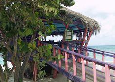 Bunker Bar overlooking the ocean and beach at the Tamarijn Aruba