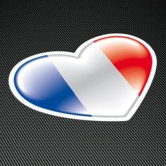 Pegatinas: Corazón France (Francia) #francia #pegatina #bandera #TeleAdhesivo Tech Logos, Chrome, Face, Flag Of France, Camper Van, Flags, Adhesive, Vinyls, Stickers