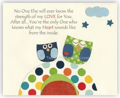 This saying brings tears to my eyes, every time.  Baby boy room decor Nursery wall art Art for Kids by DesignByMaya, $17.00