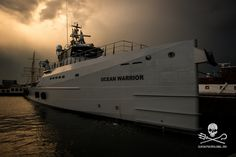 Sea Shepherd's custom-built high speed vessel The MV Ocean Warrior at the launch event in Amsterdam, The Netherlands. Image: Nelli Huié