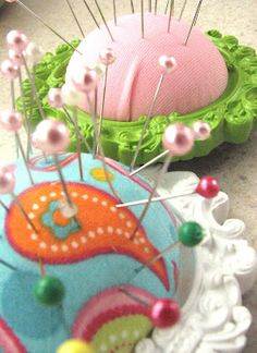 how to: Picture Frame Pin Cushions from The Simple Craft Diaries