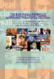 Available today Kindle/Nook Amazon.com: Evil Clown Archetype Bullies and Donald Trump Book 7 on Narcissistic Personality Abusers    The Soul's Warnings: Myth Cultural Story Cinema and the Unconscious Mind  Available today Kindle/Nook Amazon.com: Evil Clown Archetype Bullies and Donald Trump Book 7 on Narcissistic Personality Abusers      The Evil Clown Archetype is a complex metaphor known to all humans. like other evil character Archetypes: The Vampire and Pirates. But the Evil Clown has…