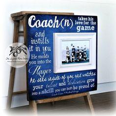 Coach Thank You Gift, Coach Gift Idea, Basketball Coach, Soccer Coach, Football Coach, Gymnastics Coach, Baseball Coach, Picture Frame 16x16 by thesugaredplums on Etsy