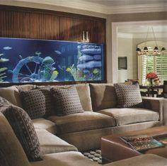 Аквариумы в интерьере - 98 фото самого живого декоративного элемента дома