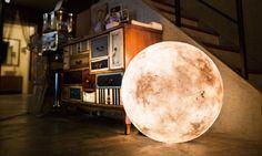 The Luna Lamp is Shaped Like the Moon