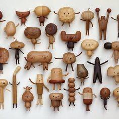 Wonderful wood toys by Yen Jui-Lin La.