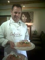 Craig from Morgenster using a salt slab for cooking