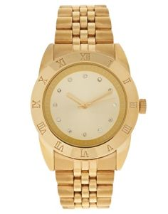 Would love to add a chunky gold watch to my wardrobe.  $45.74