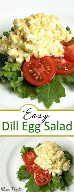 May 2019 - Dill Egg Salad - inexpensive & easy low carb recipe Dill Recipes, Egg Recipes, Lunch Recipes, Low Carb Recipes, Vegetarian Recipes, Breakfast Recipes, Healthy Recipes, Breakfast Ideas, Breakfast Hash