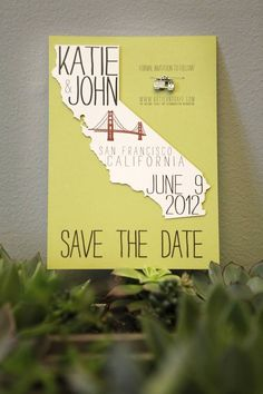 #save-the-date  Photography: The Marin Studio - themarinstudio.com  View entire slideshow: 20 Chic Save The Dates on http://www.stylemepretty.com/collection/1323/
