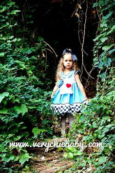 This is our Whimsical Alice in Wonderland Dress with a full skirt for twirling and lots of important attention to details. The versatile style makes it great for summer yet will take you into fall and winter with a few layering pieces. The bodice is fully lined with a coordinating fabric. The