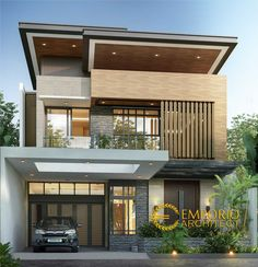 South Jakarta Service Architect Home Design Mr Prasetyo - services of quality home design architects, design professionals experienced modern Balinese villa of Emporio Architect. Modern Villa Design, Modern Exterior House Designs, Design Exterior, Best Modern House Design, 2 Storey House Design, Duplex House Design, House Front Design, Bedroom Minimalist, Modern Minimalist House