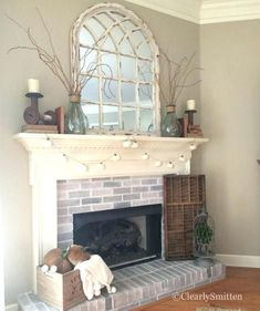 Image result for everyday fireplace mantel decorating ideas #coastallivingroomsfireplace