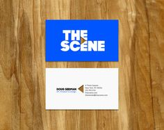 The Scene: Identity and motion graphics for Condé Nast Entertainment's digital video portal.  Love how the image arrow is incorporated with the business name and it has a hole in it... play or rewind button icon. Fitting with the business.