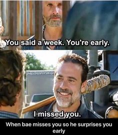 The walking dead funny meme. When bae misses you