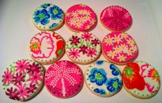 Lily Pulitzer cookies