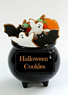 Halloween cookies & a post on substitutes for meringue powder in royal icing.