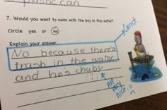 """23 Funny Test Answers That Are So Wrong They're Right - Funny memes that """"GET IT"""" and want you to too. Get the latest funniest memes and keep up what is going on in the meme-o-sphere. Funniest Kid Test Answers, Kids Test Answers, Funny School Answers, Funniest Memes, Funny Exam Answers, Stupid Funny, Funny Texts, Hilarious, Funny Stuff"""