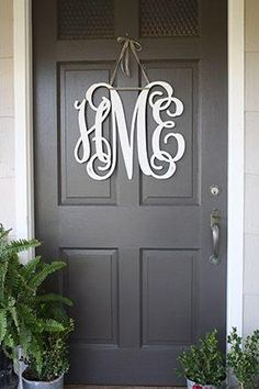 A gray front door is an easy way to have a bold front door without the crazy colors.