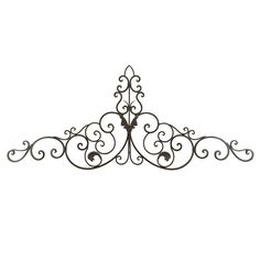 Woodland Imports 59-in W x 24-in H Frameless Metal Scroll Design 3D Wall Art