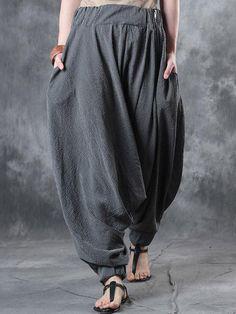 8c848fc4bdeed 2017 ZANZEA Fashion Elastic Waist Stripe Women Baggy Drop-Crotch Harem Pants  Pantalon Femme Loose Lantern Trousers Plus Size