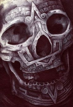 Mexican Musical Skull Tattoo Flash Art photo - 2