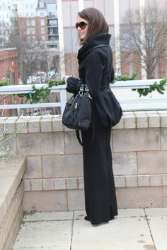 Parisian chic, all black outfit