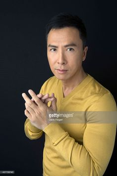 Actor Donnie Yen poses in the portrait studio at the BFI London Film Festival 2014 on October 13, 2014 in London, England.