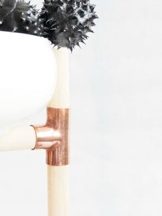 DIY copper centerpiece