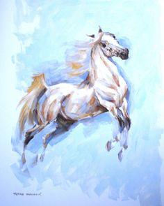nenadj:  Arabian horse, oil study on paper, 35 x 50cm