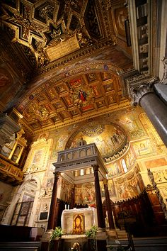 Santa Maria in Trastevere, Rome Lazio Hours: 9:30-6:30pm http://www.tripadvisor.com/Attraction_Review-g187791-d243029-Reviews-Santa_Maria_in_Trastevere-Rome_Lazio.html