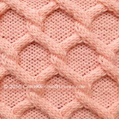 Cable Knitting Stitches » Diamonds Cable stitch