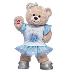 CeleBEARate the birthday queen with this cute gift set featuring Happy Hugs Teddy in a birthday queen T-shirt. Shop Disney Frozen 2 birthday gift ideas at Build-A-Bear® Teddy Bear Gifts, Teddy Bear Clothes, Teddy Bears, Happy Birthday Teddy Bear, Baby Dome, 2nd Birthday Gifts, Birthday Ideas, Cinderella Cupcakes, Disney Princess Birthday