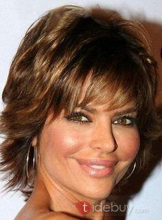 2012流行エレガントショートヘアスタイル ライト赤褐色 8インチ 100%人毛 格安ウィッグ
