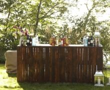 outdoor bar? Im thinking about doing something like this on my patio...maybe!
