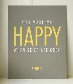 This is just cute. Plus I love yellow and grey right now.