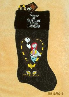 Nightmare Before Christmas Stocking. I want for next years xmas