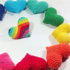 Patrón Corazones a crochet
