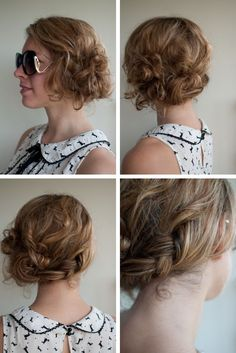 """Second day hair - anyone that has naturally curly hair totally gets what """"second day"""" hair is."""