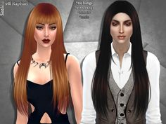 Female and male hairset  Found in TSR Category 'Sims 4 Hair Sets'