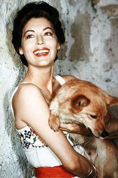 Ava Gardner and her dog enjoy their Wednesday