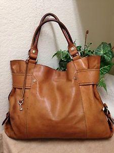 a34248765 Fossil Vintage Brown Distressed Leather Shoulder Handbag Satchel Bag Key  Fob XL | eBay Fossil Handbags