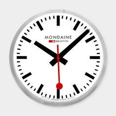 Clocks on pinterest clock wall clocks and desk clock - Swiss railway wall clock ...