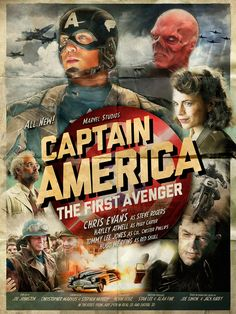 Alternative Movie Poster for Captain America: The First Avenger by Richard Davies