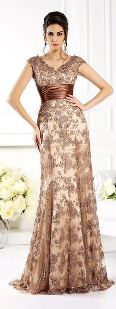 Gorgeous mother of the bride dresses long lace style