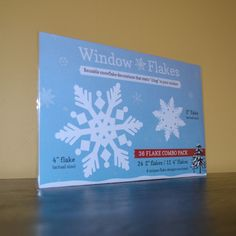 36 Flake Combo Pack of Static Cling Window Christmas Snowflake Decorations :: Window Flakes