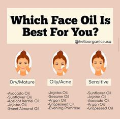 Dry Skin On Face, Oily Skin Care, Face Skin Care, Best Oil For Skin, Oil For Dry Skin, Oils For Skin, Organic Skin Care, Natural Skin Care, Beauty Makeup