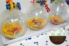 Balloon filled party favors
