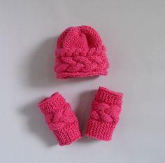 Knit Hat Bonnet & Leg Warmers Newborn Hat Elf by recyclingroom, $30.00